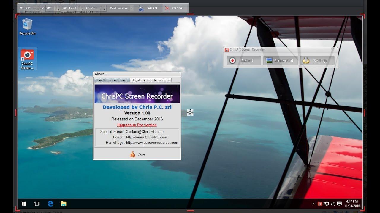 ChrisPC Screen Recorder Pro 2.40 Crack Plus Serial Key Full Updated